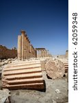 Ancient city of Palmyra - stock photo