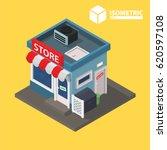 store. isometric | Shutterstock .eps vector #620597108