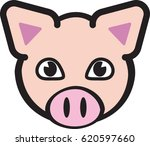 pig head icon   vector... | Shutterstock .eps vector #620597660