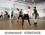 group of young modern dancers... | Shutterstock . vector #620601428