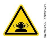 warning sign high noise levels. ... | Shutterstock .eps vector #620604734