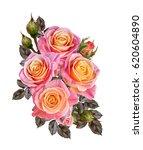 flower composition. a bouquet... | Shutterstock . vector #620604890