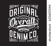 denim over all typography  tee... | Shutterstock .eps vector #620605544