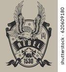 rebel eagle | Shutterstock .eps vector #620609180
