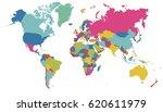 world map vector on white... | Shutterstock .eps vector #620611979
