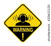 warning sign high noise levels. ... | Shutterstock .eps vector #620612120