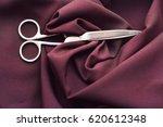 the tailor's scissors on fabric | Shutterstock . vector #620612348