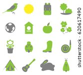 vector set collection icons of... | Shutterstock .eps vector #620617490