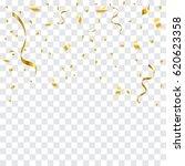 many falling golden tiny... | Shutterstock .eps vector #620623358