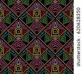 colorful tribal navajo vector... | Shutterstock .eps vector #620628350