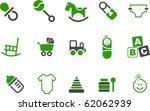 vector icons pack   green...   Shutterstock .eps vector #62062939