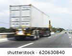 truck on road container motion... | Shutterstock . vector #620630840