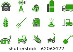 vector icons pack   green... | Shutterstock .eps vector #62063422