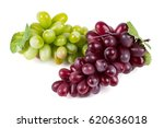 grapes on a white background | Shutterstock . vector #620636018