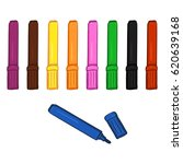 Vector Set Of Colorful Felt Ti...