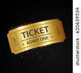 set of eleven vector tickets... | Shutterstock .eps vector #620639534