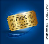 set of eleven vector tickets... | Shutterstock .eps vector #620639540