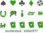 vector icons pack   green... | Shutterstock .eps vector #62063977