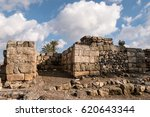 Small photo of The ruins of the Israelite gate at Tel Megiddo in Israel built by either King Solomon or King Ahab