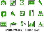 vector icons pack   green... | Shutterstock .eps vector #62064460