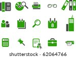 vector icons pack   green... | Shutterstock .eps vector #62064766