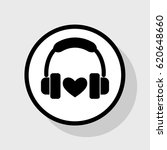 headphones with heart. vector.... | Shutterstock .eps vector #620648660