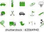 vector icons pack   green... | Shutterstock .eps vector #62064940