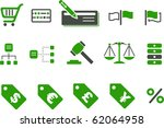 vector icons pack   green... | Shutterstock .eps vector #62064958