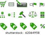 vector icons pack   green... | Shutterstock .eps vector #62064958