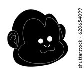 happy smiling monkey cartoon...   Shutterstock .eps vector #620654099