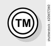 trade mark sign. vector. flat...   Shutterstock .eps vector #620657360