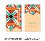cards template for yoga studio. ... | Shutterstock . vector #620662124