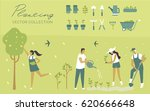 vector set   garden  ecology ... | Shutterstock .eps vector #620666648
