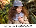 portrait of little cute smiling ...   Shutterstock . vector #620668628