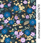 floral pattern. pretty flowers... | Shutterstock .eps vector #620677670