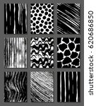 set chaotic textures in black... | Shutterstock .eps vector #620686850