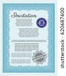 light blue formal invitation.... | Shutterstock .eps vector #620687600