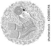 zentangle hand drawn stork for... | Shutterstock .eps vector #620688146