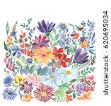 wildflowers. simple flowers | Shutterstock . vector #620695034