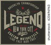 vintage biker graphics and... | Shutterstock .eps vector #620696963
