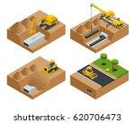 removing the asphalt road... | Shutterstock .eps vector #620706473