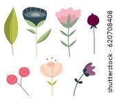 set of hand drawn doodle... | Shutterstock .eps vector #620708408
