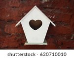 Little White Birdhouse With...
