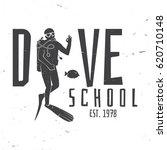 dive school. vector... | Shutterstock .eps vector #620710148