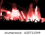 night club dj party people... | Shutterstock . vector #620711549