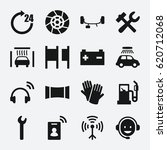 service icon. set of 16 service ... | Shutterstock .eps vector #620712068