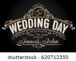 vintage style wedding... | Shutterstock . vector #620712350