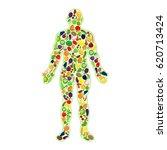 human healthy silhouette | Shutterstock .eps vector #620713424