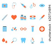 colorful medical icons... | Shutterstock . vector #620714894