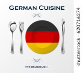 silhouette of knife  fork ... | Shutterstock .eps vector #620716274